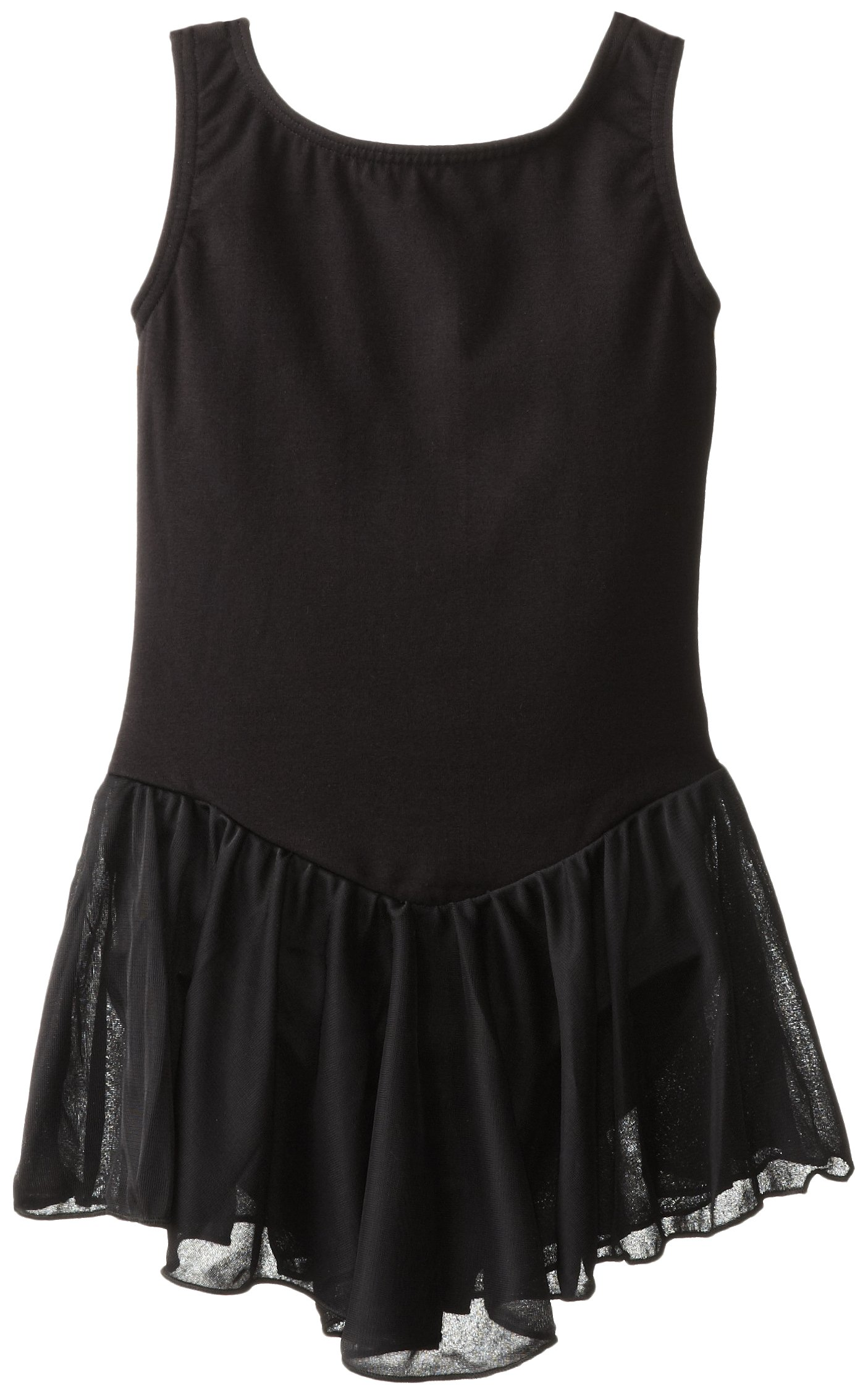 Clementine Girl's 2-6X Girls Leotard Dress, Black, 12/14 by Clementine Apparel (Image #1)