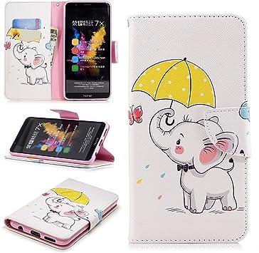 Fertuo Cartera con Dibujos para Huawei Honor 7 x Smartphone ...