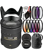 $419 » Nikon AF-S DX NIKKOR 18-200mm f/3.5-5.6G ED VR II Zoom Lens (White Box) with Essential Accessory Bundle – Includes: 3PC Multi-Coated Filter Set, 6PC Graduated Color Filter Set, Lens Cap Keeper & More