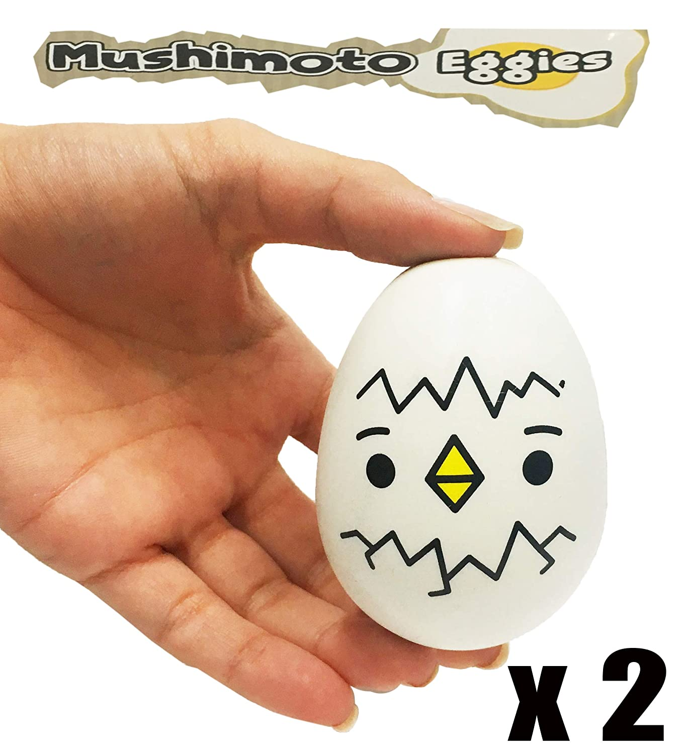 Animolds Mushimoto Eggie Squishies Slow Rising Kids Squishy Toys | 2 Pack Squeeze Toys | Cute Kawaii Squishy Toys | Small Squishies Pack | Stress Relief Squishies Pack