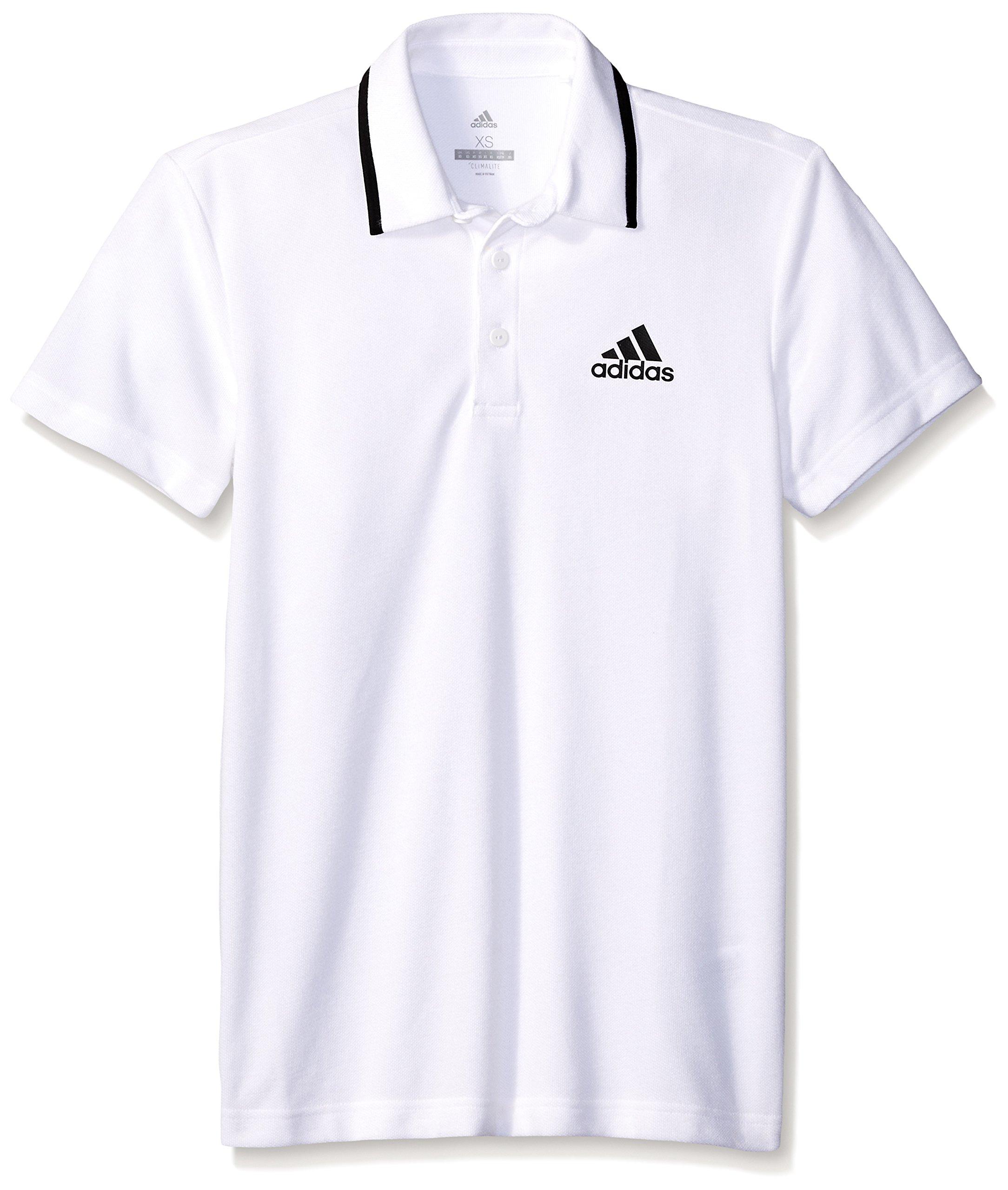 b94b381c Galleon - Adidas Men's Tennis Essex Polo Shirt, White/Black, Small