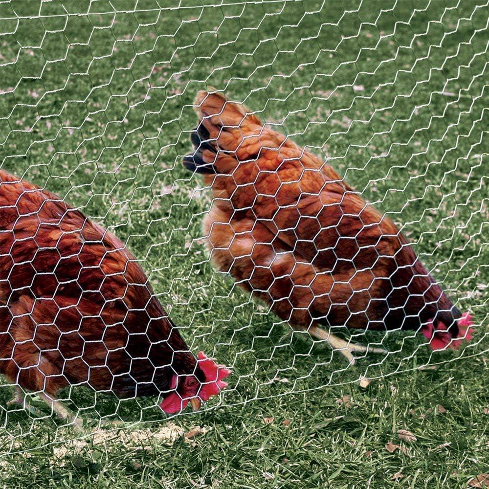 CW109 garden mile/® Chicken Wire Mesh Rabbit Animal Fence Galvanised Steel Metal Garden Wire Mesh Netting Boundary Fencing 10m x 0.9m x 13mm