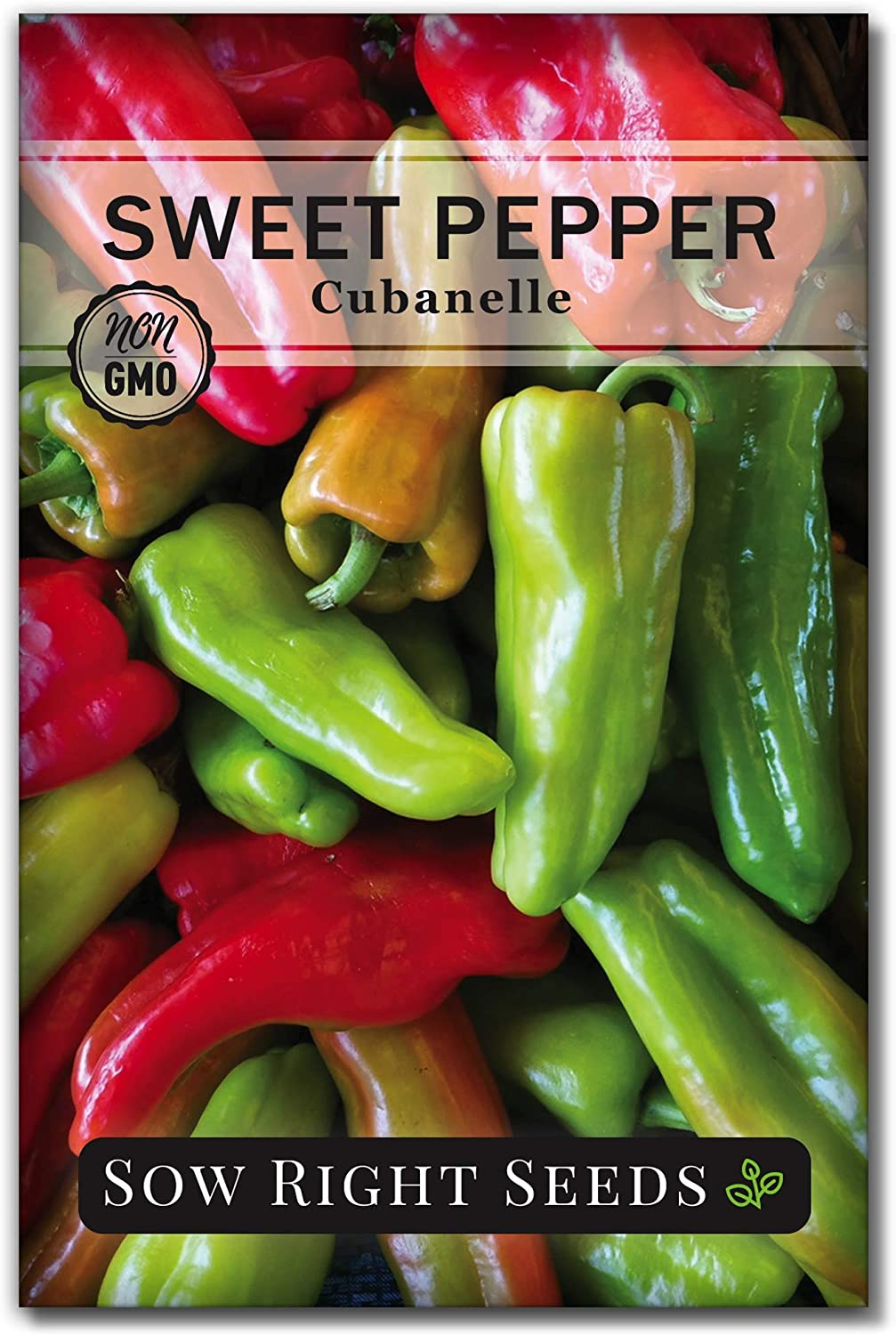 Sow Right Seeds - Cubanelle Pepper Seed for Planting - Non-GMO Heirloom Packet with Instructions to Plant an Outdoor Home Vegetable Garden - Great Gardening Gift (1)