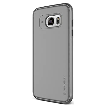 Single Fit VRS Design Funda Carcasa Ultrafina para Samsung Galaxy S7 Edge | Bumper Case Protección Antichoque en Gris Humo