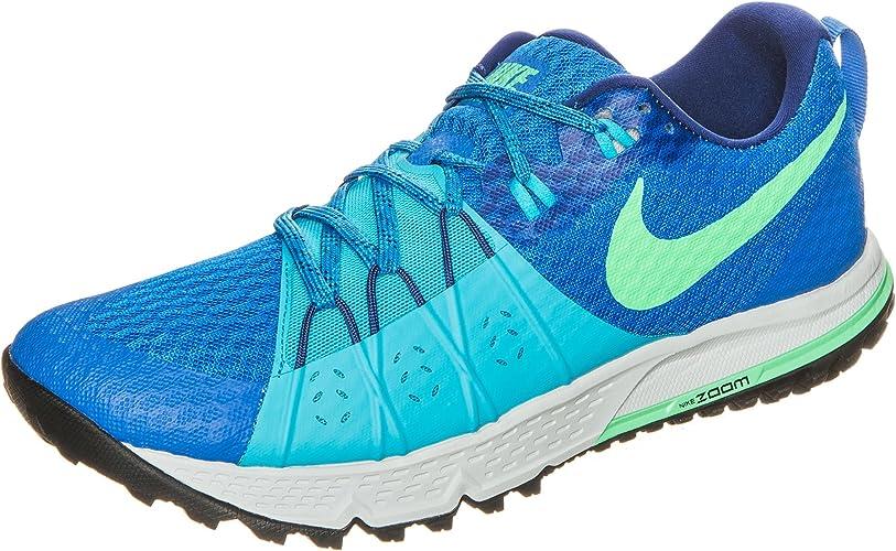 Nike Men's Air Zoom Wildhorse 4 SoarElectro GreenChlorine Blue Trail Running Shoes