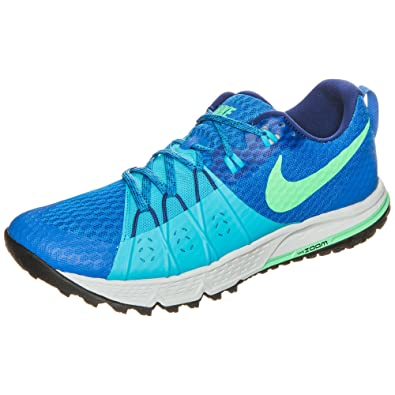 861e5ad0c393d4 NIKE Men s Air Zoom Wildhorse 4 Soar Electro Green Chlorine Blue Trail  Running Shoes