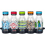Reduce WaterWeek Reusable Water Bottles, 14oz – Includes 5 Refillable Water Bottles Plus Bonus Fridge Tray For Your Water Bottle Set – BPA-Free, Leak Proof Twist Off Cap – Perfect for Lunchboxes