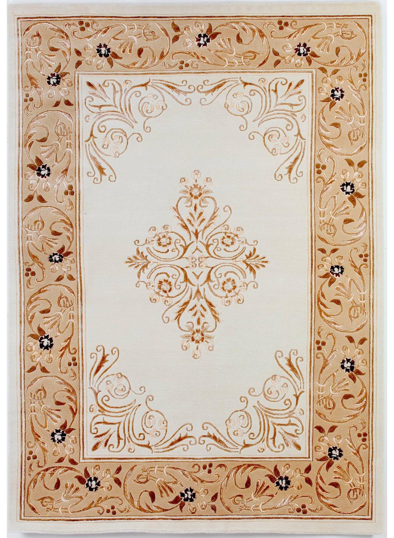 un Amour von Teppich 13968Pariser Wilde Teppich D 'ORIENT Wolle Weiß, weiß, 140 x 200 cm