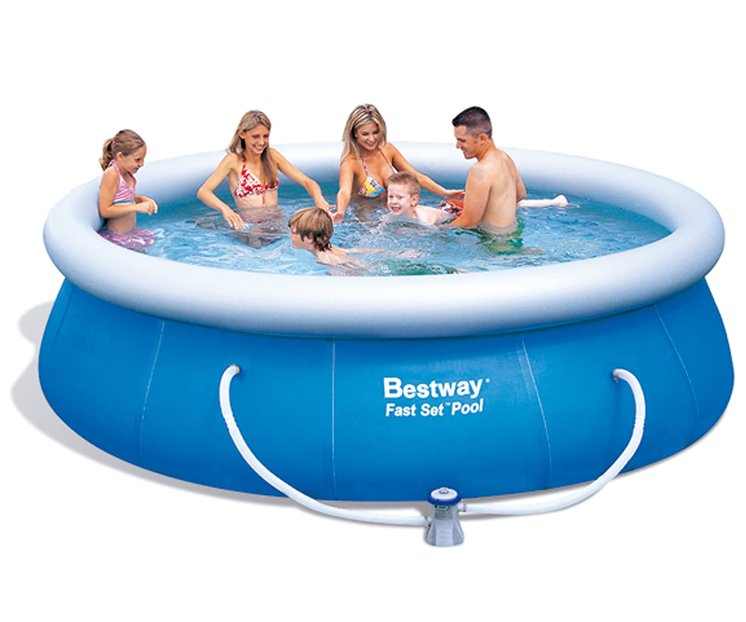 Extremely Bestway 57166 Fast Set Pool mit Filterpumpe NL, 366 x 91 cm  QS33