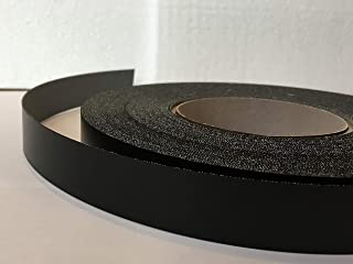 Pre Glued Iron on Black Smooth Melamine Edging Tape 22mm wide x 10 Metres.Free Postage
