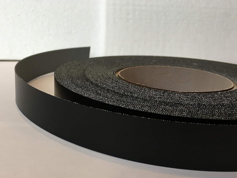 Pre Glued Iron on Black Smooth Melamine Edging Tape 22mm wide x 5 Metres.Free Postage