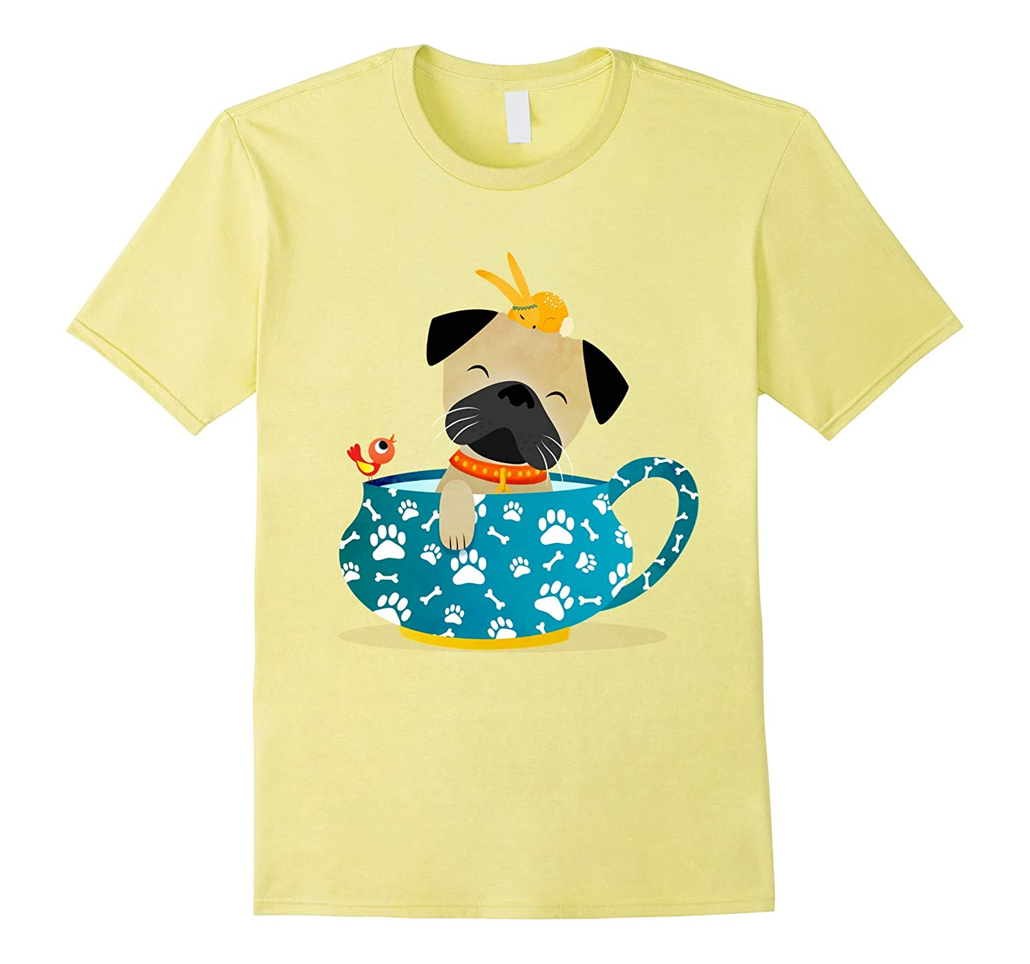 pug in a tea cup tee shirt goatstee