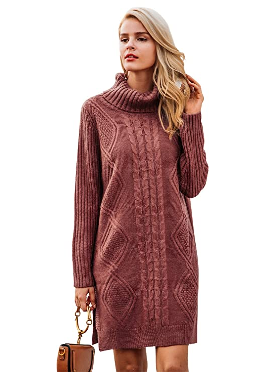 Turtleneck Oversized Sweater Dresses Women | Womens Sweater Dresses Winter