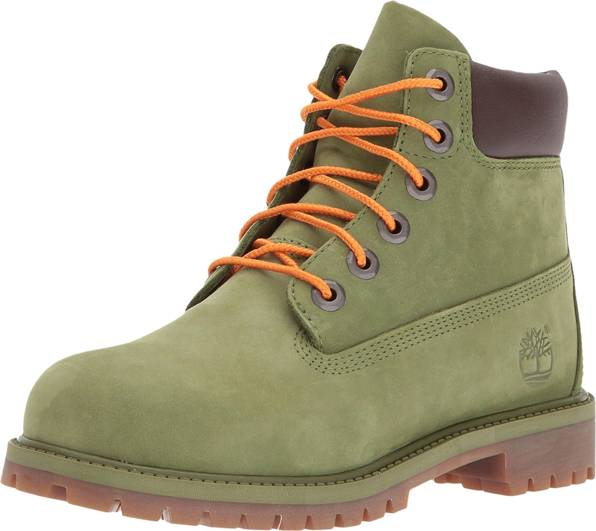 Timberland Kids 6'' Premium Waterproof Boot (Big Kid) Pesto Waterbuck Boot 7 M US