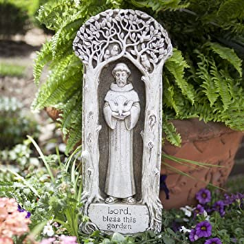 Amazoncom St Francis Garden Plaque Outdoor Plaques Patio