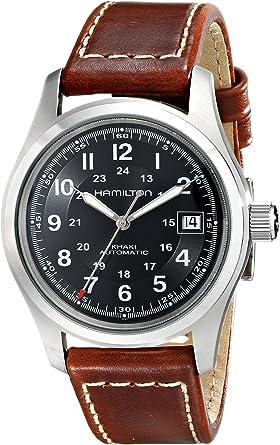 Hamilton Reloj Analogico para Hombre de Automático con Correa en Cuero H70455533: Amazon.es: Relojes