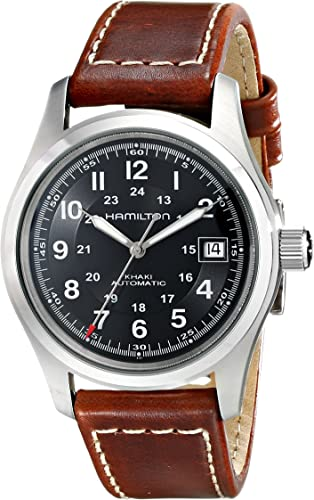 Hamilton Men S Analogue Automatic Watch With Leather Strap H70455533 Amazon Co Uk Watches