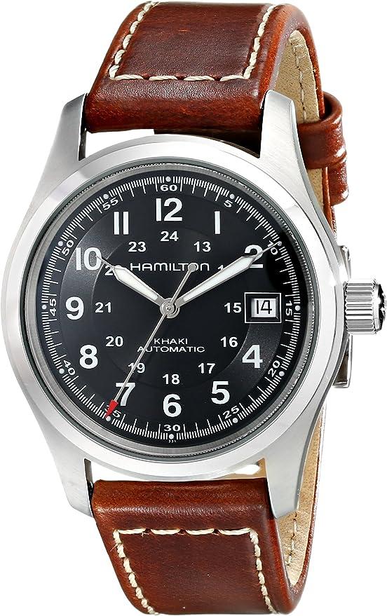 Hamilton Herren Analog Automatik ETA 2824-2 Uhren mit Leder Armband H70455533