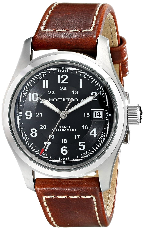Hamilton Men S Hml H70455533 Khaki Field Black Dial Watch