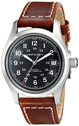 259eade26 Hamilton Men's Analogue Automatic Watch with Leather Strap H70455533:  Amazon.co.uk: Watches