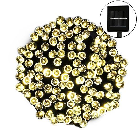 24 opinioni per Luci Stringa, GLISTENY 12/22m 100 / 200LED 24v Solare Impermeabile 8 Modalità di