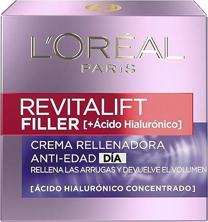 L'Oréal Paris Dermo Expertise Crema Día Revitalift Filler con Ácido Hialurónico - 50 ml
