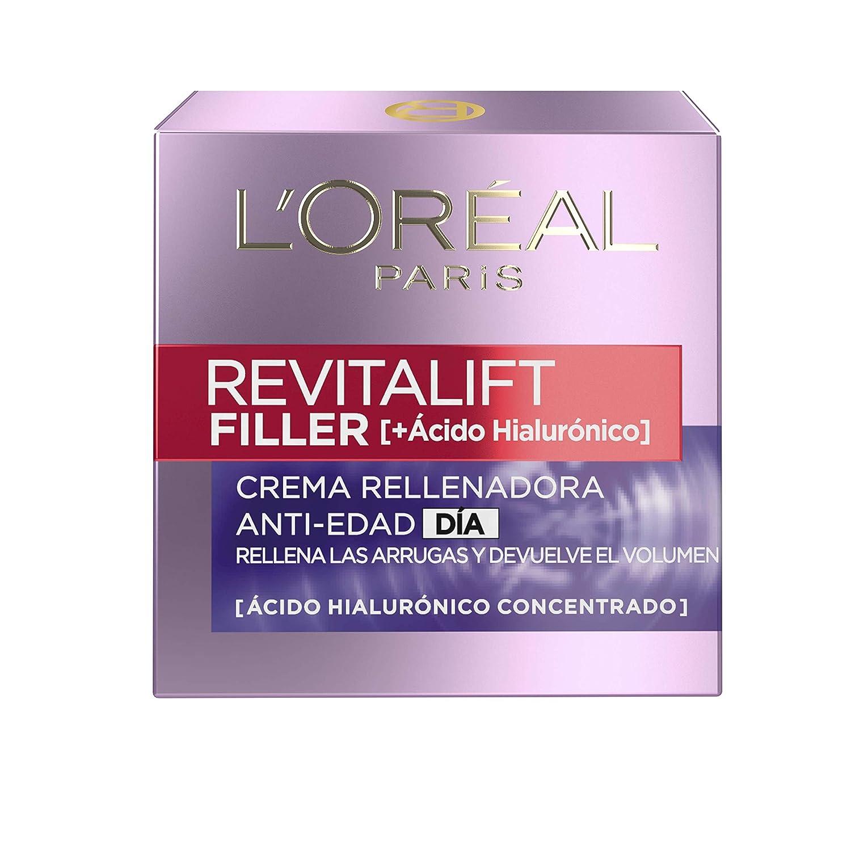 LOreal Paris Dermo Expertise Crema Día Revitalift Filler, con Ácido Hialurónico- 50 ml