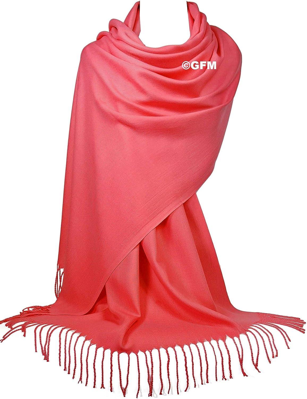 C9 GFM Cachemira suave al tacto Pashmina estilo bufanda chal