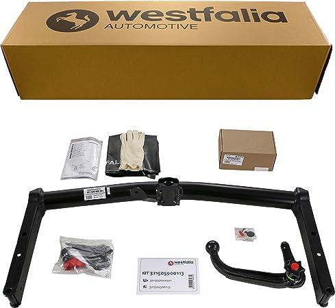 Westfalia Abnehmbare Anhängerkupplung Für Vw Passat Variant Bj 11 2000 09 2005 Im Set Mit 13 Poligem Fahrzeugspezifischen Westfalia Elektrosatz Auto