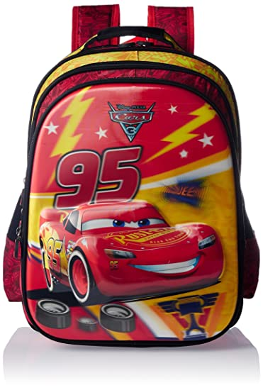 Cars Polyester Multi Colour School Bag Age Group 3 5 Yrs