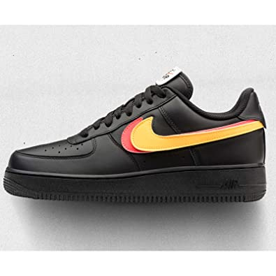 NIKE Men's Air Force 1 07 QS, Black/Black-Black, ...