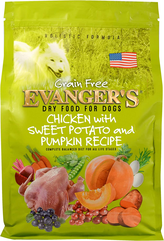 Evanger's Grain-Free Chicken with Sweet Potato & Pumpkin Dry Dog Food Brown, 16.5