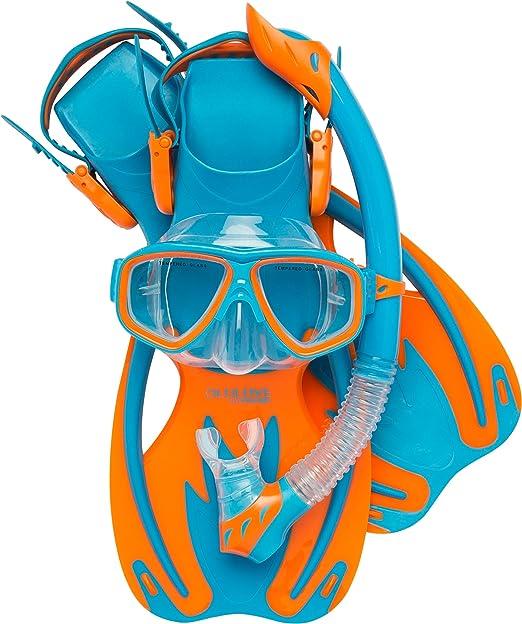 Cressi Junior Rocks Mask Fin Snorkel Set