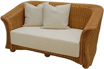 Korboutlet Rattan Sofa 2 Sitzer In Der Farbe Honig Inkl Sitz