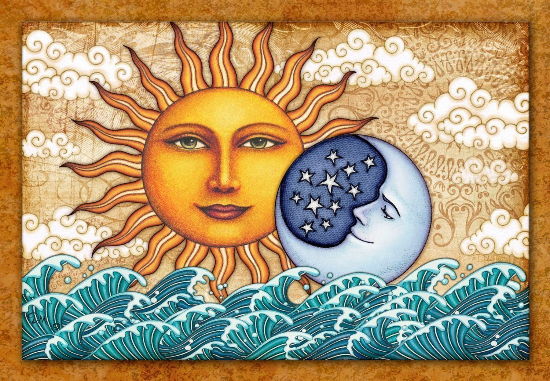 Sun Moon Tapestry Ocean Sunrise by Artist Dan Morris