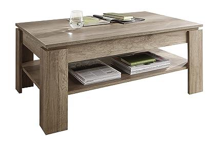 Tavolino Da Soggiorno Marrone.Trendteam Smart Living 1100112 Tavolino Da Salotto Marrone Chiaro 110 X 47 X 65 Cm