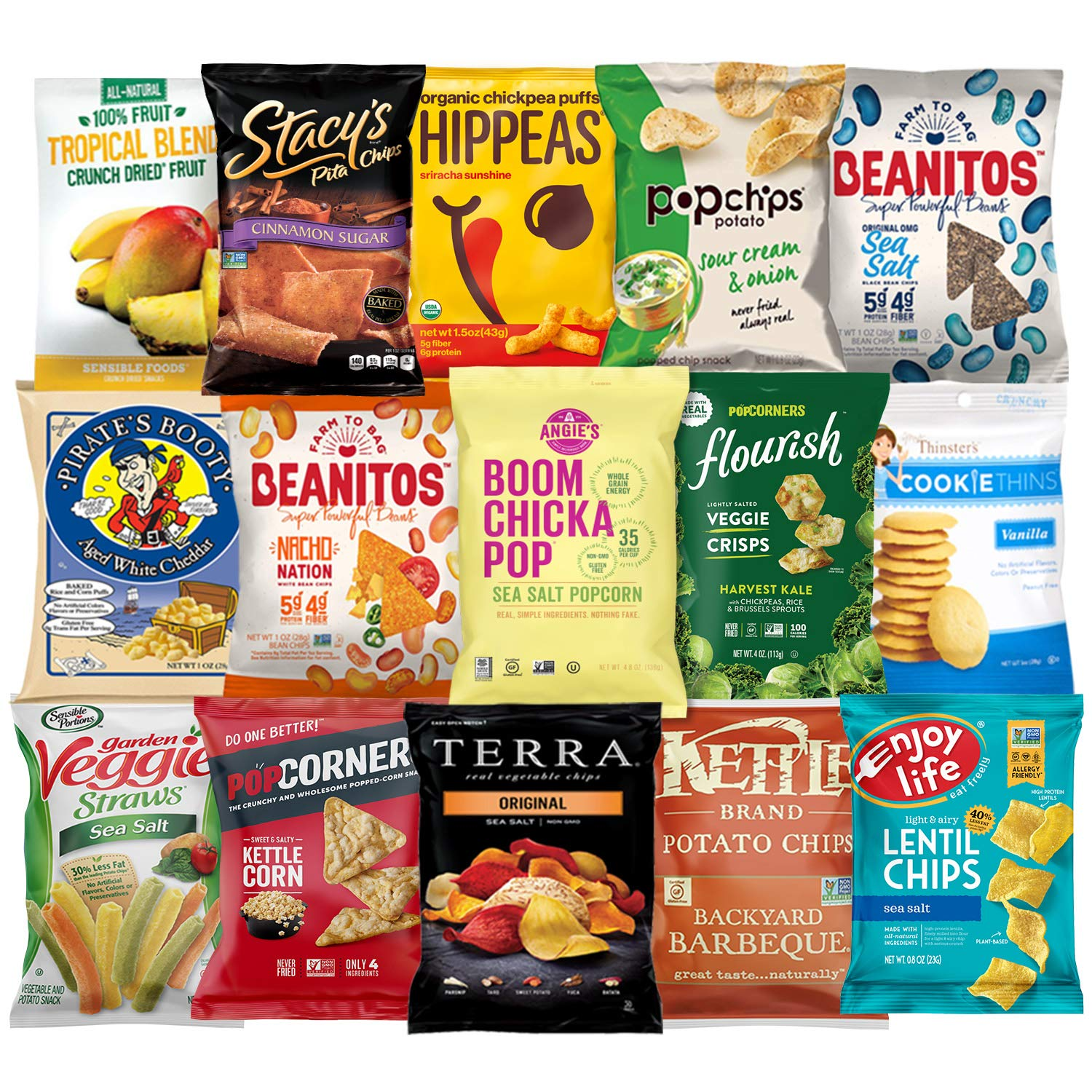 Ultimate Premium Healthy Chips & Snacks Care Package Variety Pack by Variety Fun (Care Package 35 Count) by Custom Varietea (Image #3)