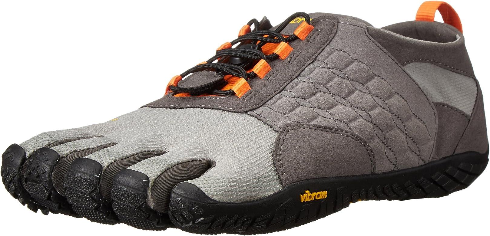 Vibram FiveFingers Trek Ascent, Zapatillas de Deporte Exterior Hombre, Multicolor (Grey/Black/Orange), 41 EU: Amazon.es: Zapatos y complementos