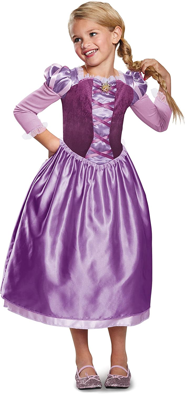 Amazon Com Disney Rapunzel Tangled The Series Girls Costume Purple Toys Games