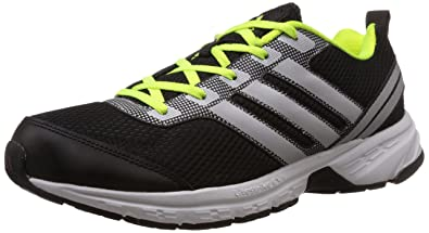 8c1d13ddf Adidas Men's Adi Pacer M Black, Silver and Solar Yellow Running Shoes - 10  UK