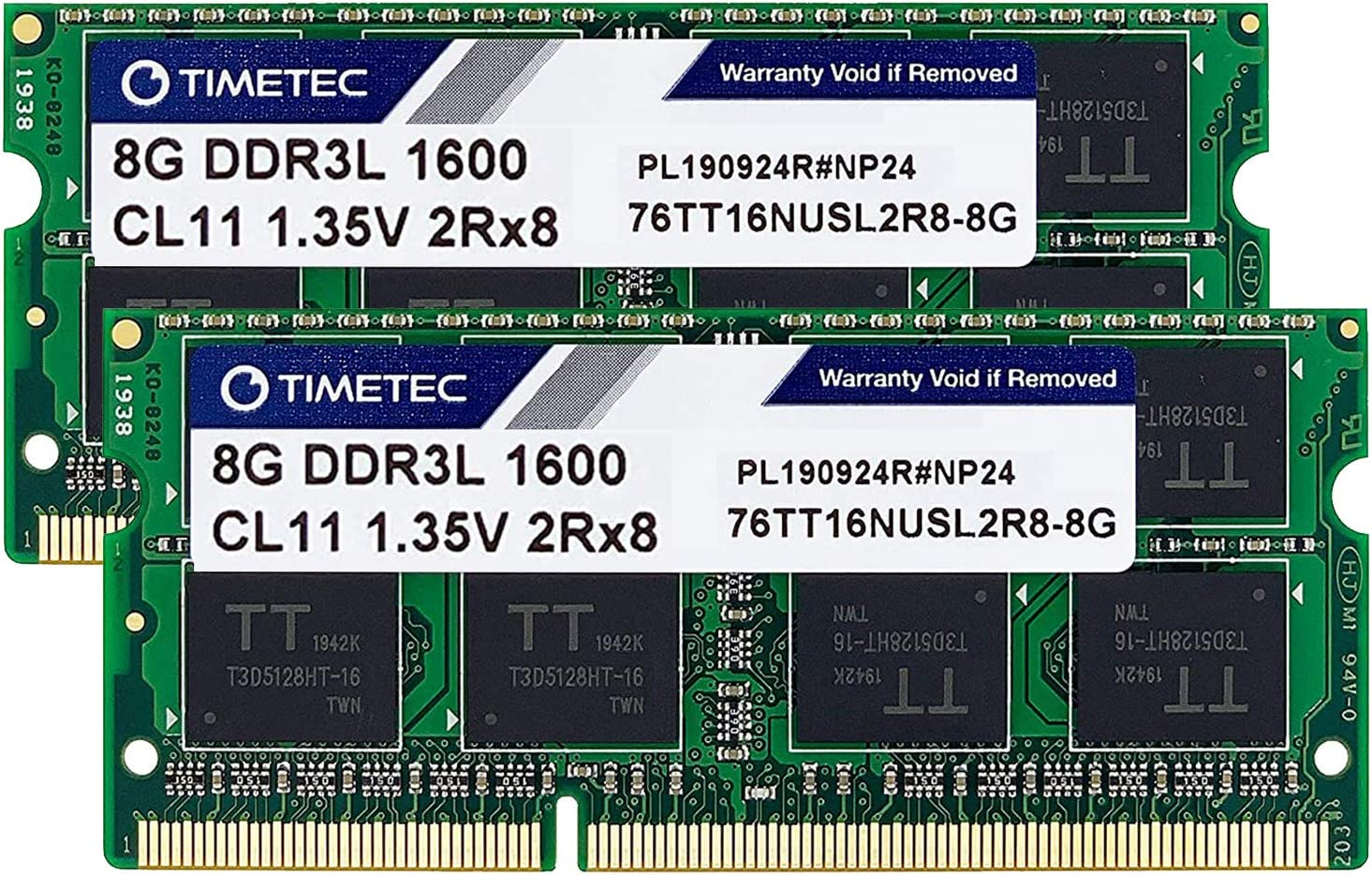 Timetec Hynix IC 16GB Kit(2x8GB) DDR3L 1600MHz PC3L-12800 Non ECC Unbuffered 1.35V CL11 2Rx8 Dual Rank SODIMM Laptop Memory Ram (16GB Kit(2x8GB))