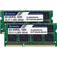 Timetec Hynix IC 16GB Kit(2x8GB) DDR3 1600MHz PC3-12800 Non ECC Unbuffered 1.35V CL11 2Rx8 Dual Rank 204 Pin SODIMM…