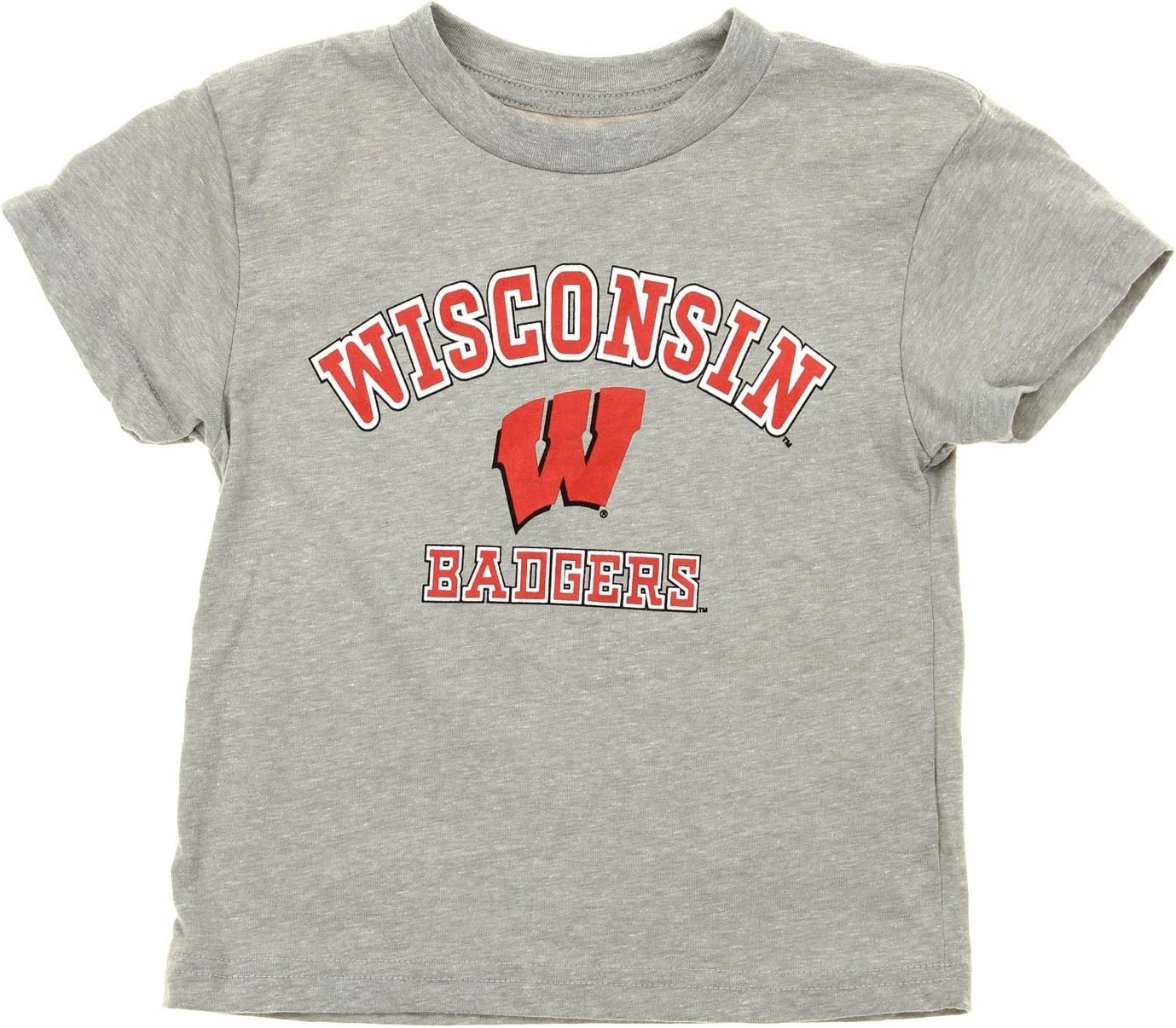 Grey Outerstuff NCAA Kids Wisconsin Badgers Squard Combo Shirt Pack