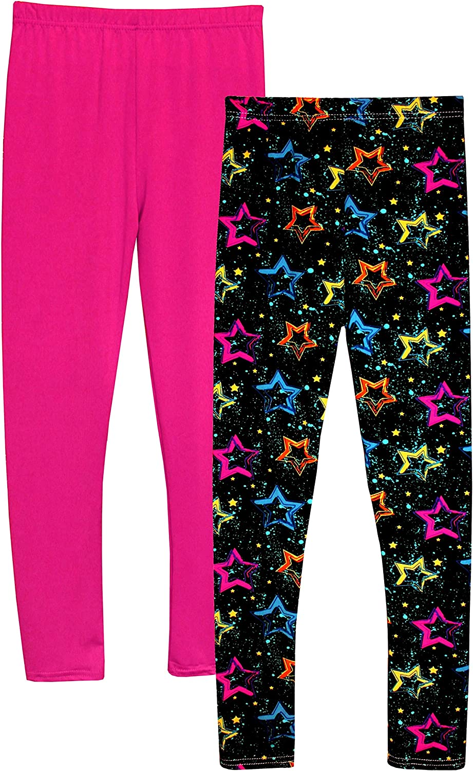 Syleia Girl Leggings High Rise with Star Pattern