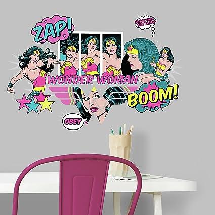 RoomMates RMK3604SCS Wonder Woman Pop Art Peel and Stick Wall Decals ...