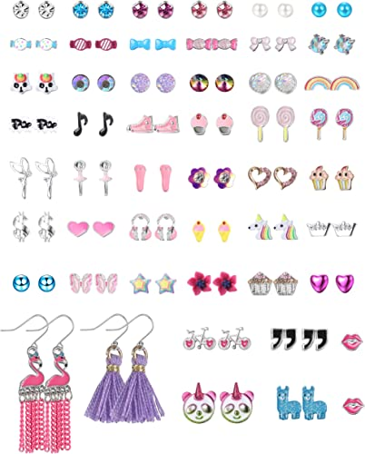 9 Pairs Small Earring Set Little Girls Cute Assorted Ear Studs Ice Cream