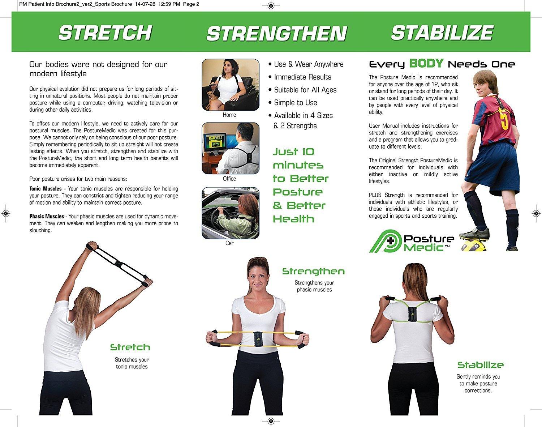 PostureMedic Original Posture Corrector Brace XSmall Small Medium Large XLarge PLUS by Posture Medic International (Image #3)
