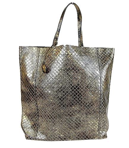 babca86e39e9 Amazon.com  Bottega Veneta Gold and Black Intrecciomirage Leather Tote Bag  298779 8414  Shoes