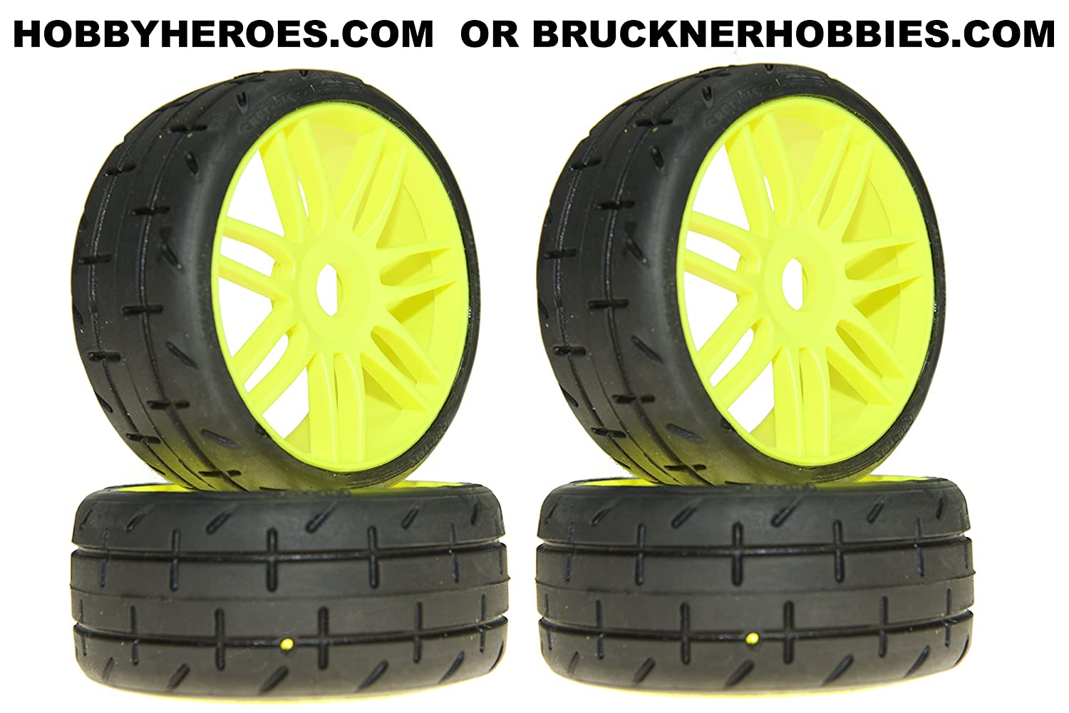 4 SOFT Compound on new YELLOW rims S3 GRP GT TREADED Tires
