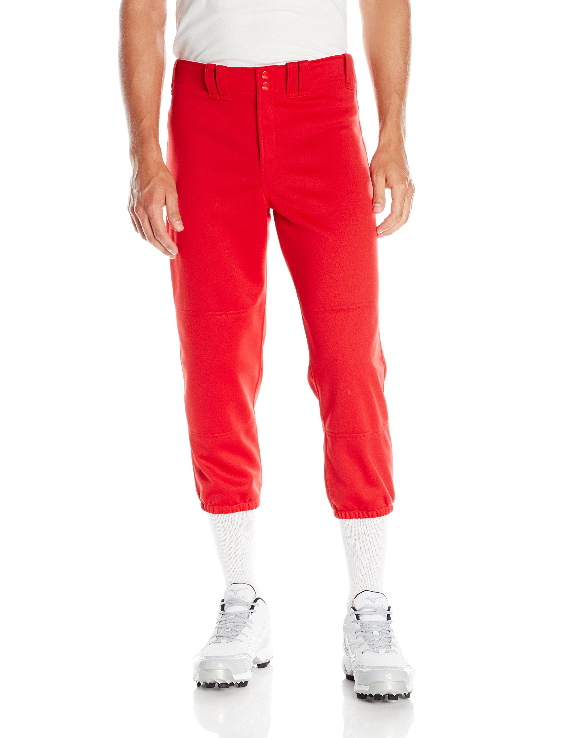 Mizuno Adult Women's Belted Low Rise Fastpitch Softball Pant, Red, Small by Mizuno (Image #2)